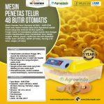 Jual Mesin Penetas Telur Otomatis 48 Butir – AGR-YZ48 di Semarang