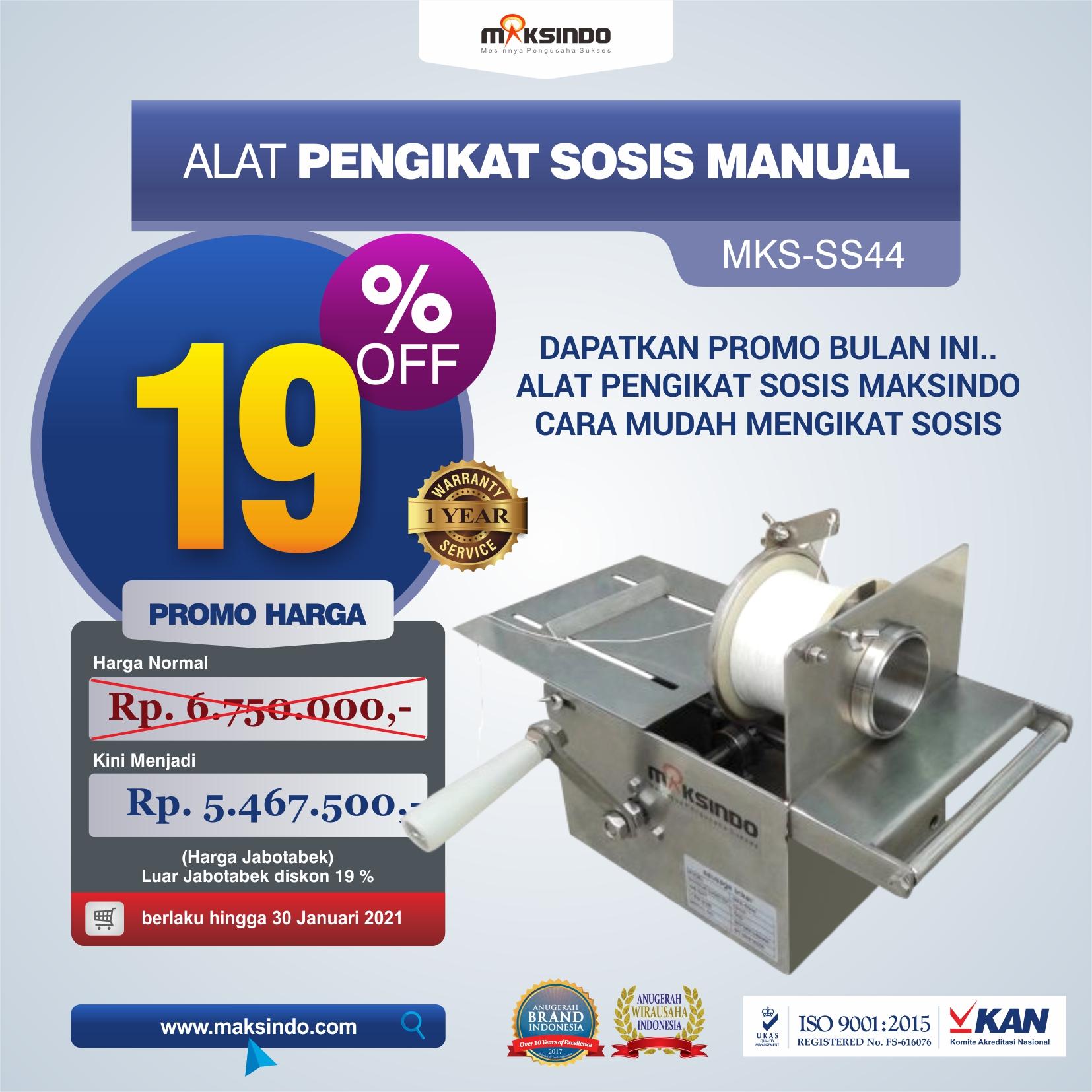 Jual Alat Pengikat Sosis Manual (MKS-SS44) di Semarang