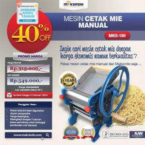 Jual Cetak Mie Manual Untuk Usaha (MKS-150) di Semarang