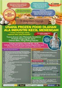Training Usaha Frozen Food, 5-7 Mei 2017