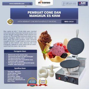 Jual Pembuat Cone dan Mangkuk Es Krim (CIC21) di Semarang