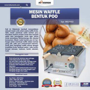 Jual Mesin Waffle Bentuk Poo (MKS-POO2) di Semarang