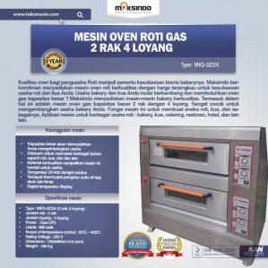 Jual Mesin Oven Roti Gas 2 Rak 4 Loyang (GO24) di Semarang
