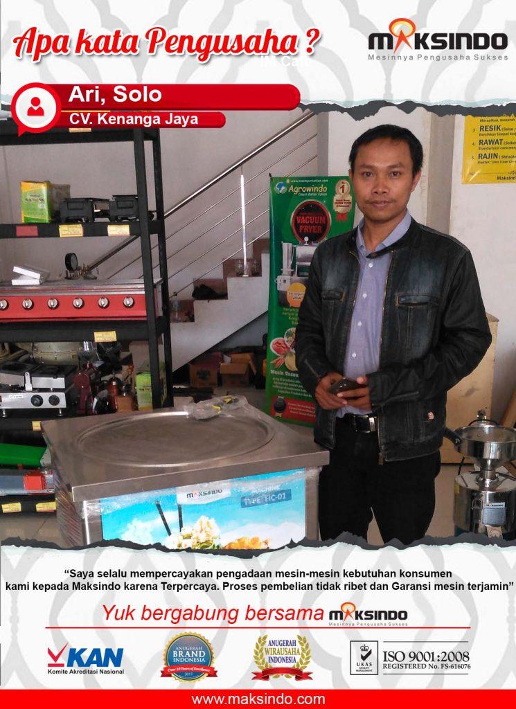 CV. Kenanga Jaya : Dikarena Mesin Fry Ice Krim Saya Semakin Percaya Menjalankan Usaha Saya