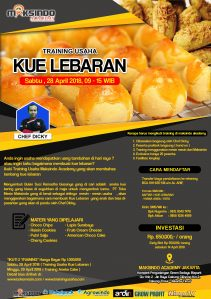 Training Usaha Kue Lebaran, 28 April 2018