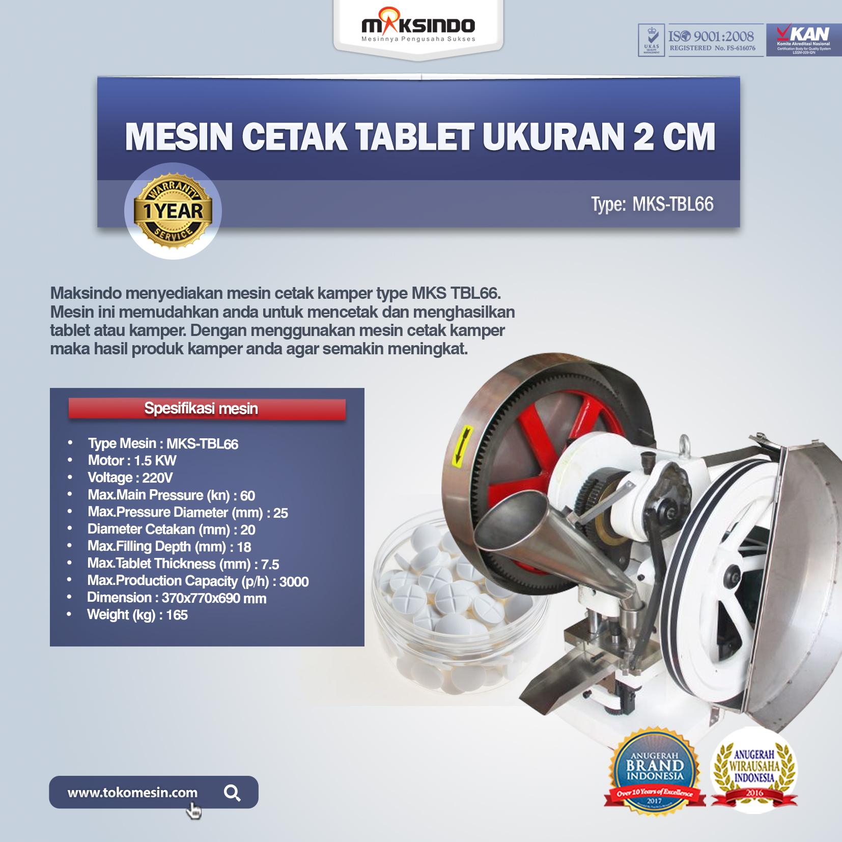 Jual Mesin Cetak Tablet Ukuran 2cm di Semarang