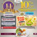 Jual Mesin Pembuat Egg Roll (Gas) di Semarang