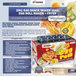 Jual Mesin Egg Roll Gas 2in1 Plus Fryer ERG007 Maksindo di Semarang