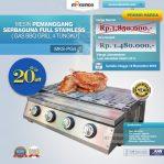 Jual Pemanggang Serbaguna – Gas BBQ Grill 4 Tungku di Semarang