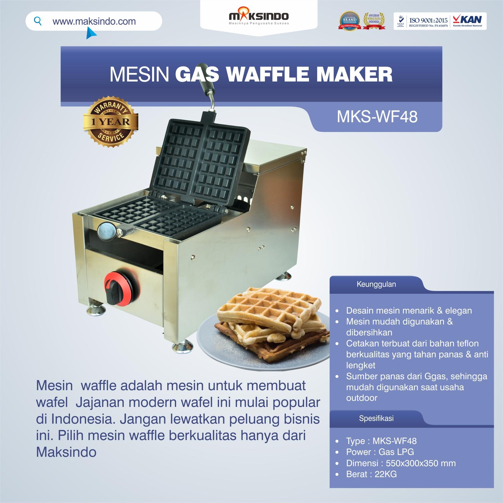 Jual Mesin Gas Waffle Maker MKS-WF48 di Semarang