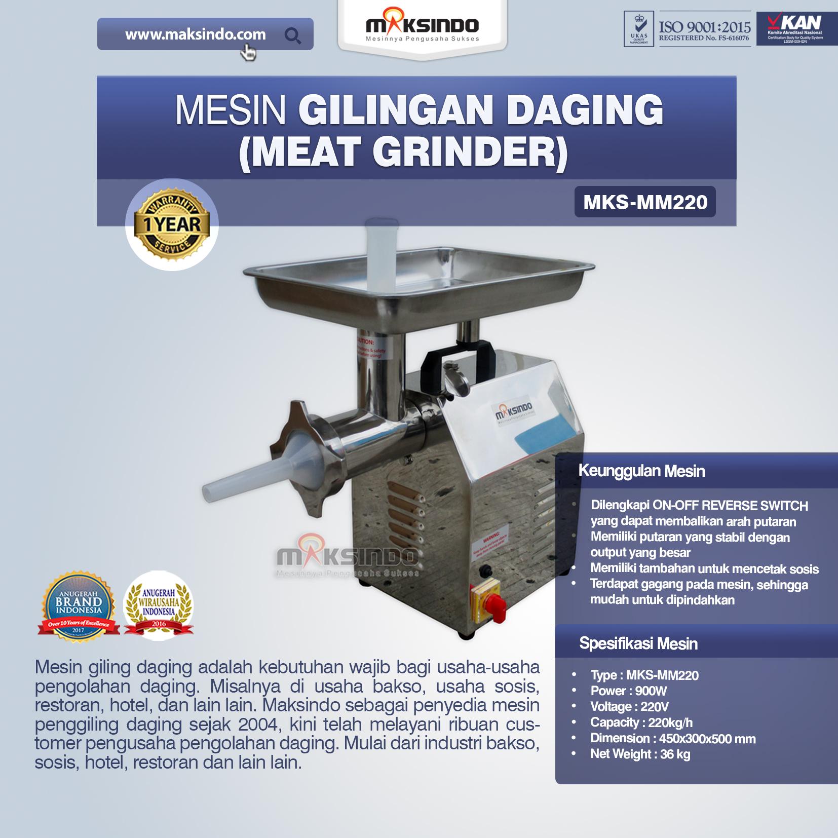 Jual Mesin Giling Daging (Meat Grinder) MKS-MM220 di Semarang