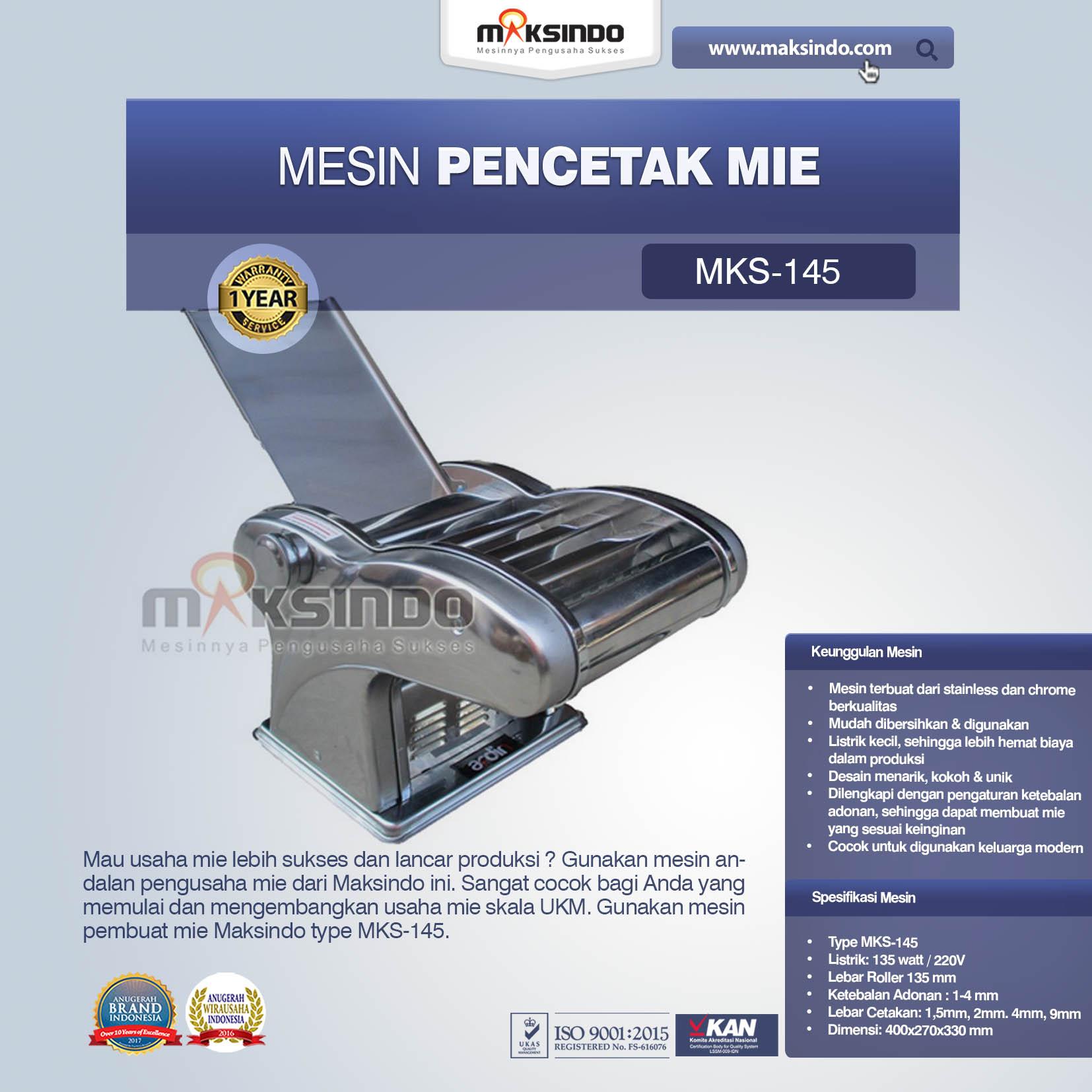 Jual Mesin Cetak Mie (MKS-145) di Semarang
