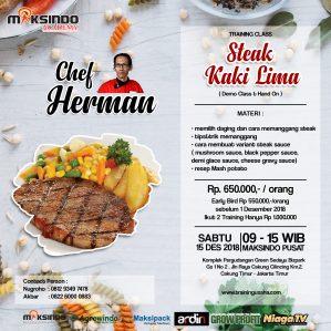 Training Usaha Kreasi Olahan Steak, Sabtu 15 Desember 2018