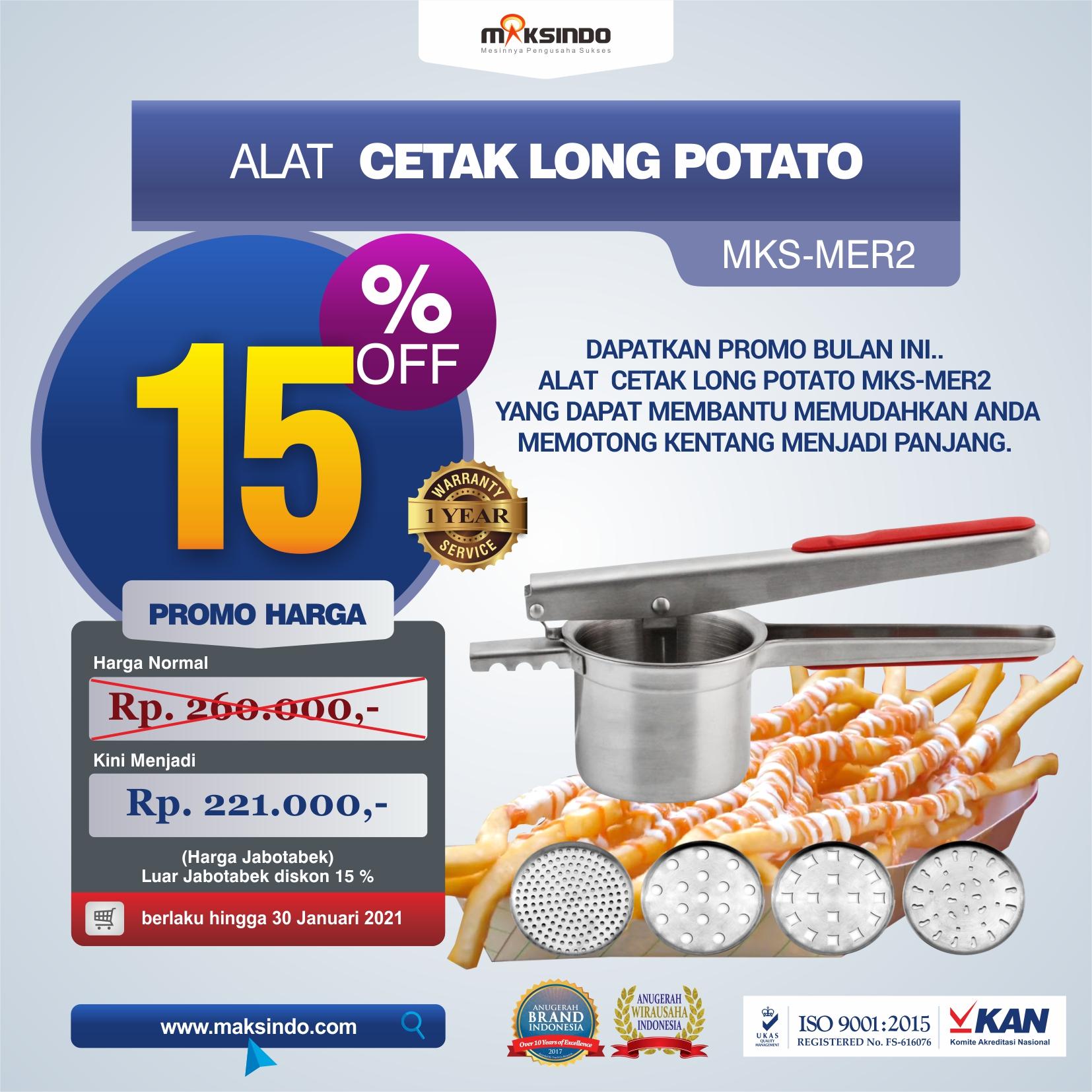 Jual Alat Cetak Long Potato MKS-MER2 di Semarang