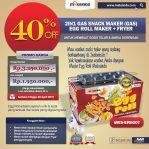 Jual Mesin Egg Roll Gas 2in1 Plus Fryer ERG007 Maksindo di Semarang