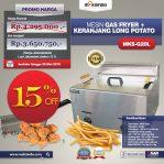 Jual Mesin Gas Fryer MKS-G20L + Keranjang di Semarang