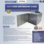 Jual Mesin Food Dehydrator 10 Rak (FDH10) di Semarang