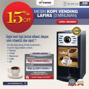 Jual Mesin Kopi Vending LAFIRA (3 Minuman) di Semarang
