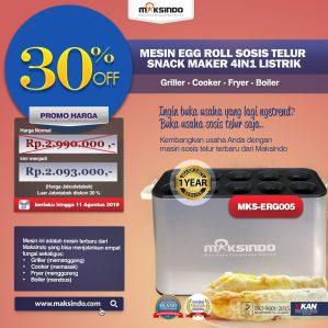 Jual Mesin Egg Roll Sosis Telur Snack Maker 4in1 Listrik di Semarang