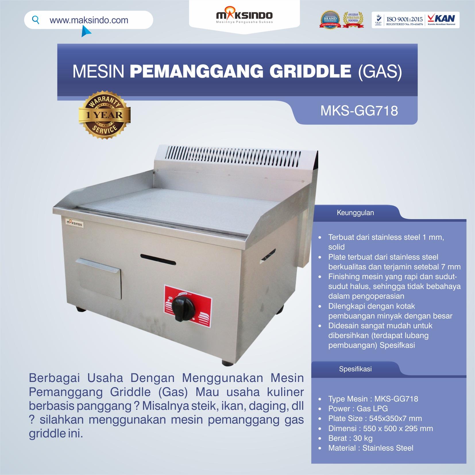 Jual Mesin Griddle di Semarang
