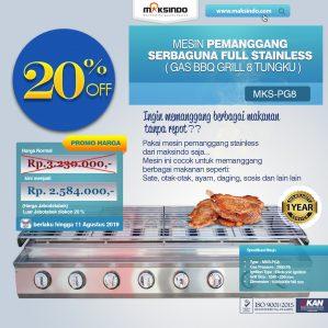 Jual Pemanggang Serbaguna – Gas BBQ Grill 8 Tungku di Semarang