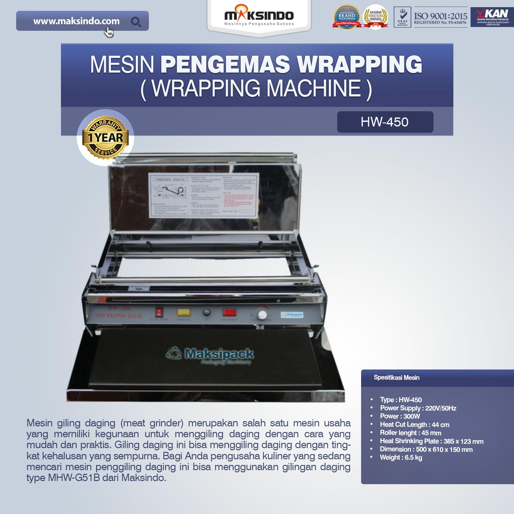 Jual Mesin Pengemas Wrapping di Semarang