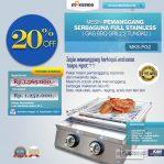 Jual Pemanggang Serbaguna – Gas BBQ Grill 2 Tungku Full Stainless di Semarang