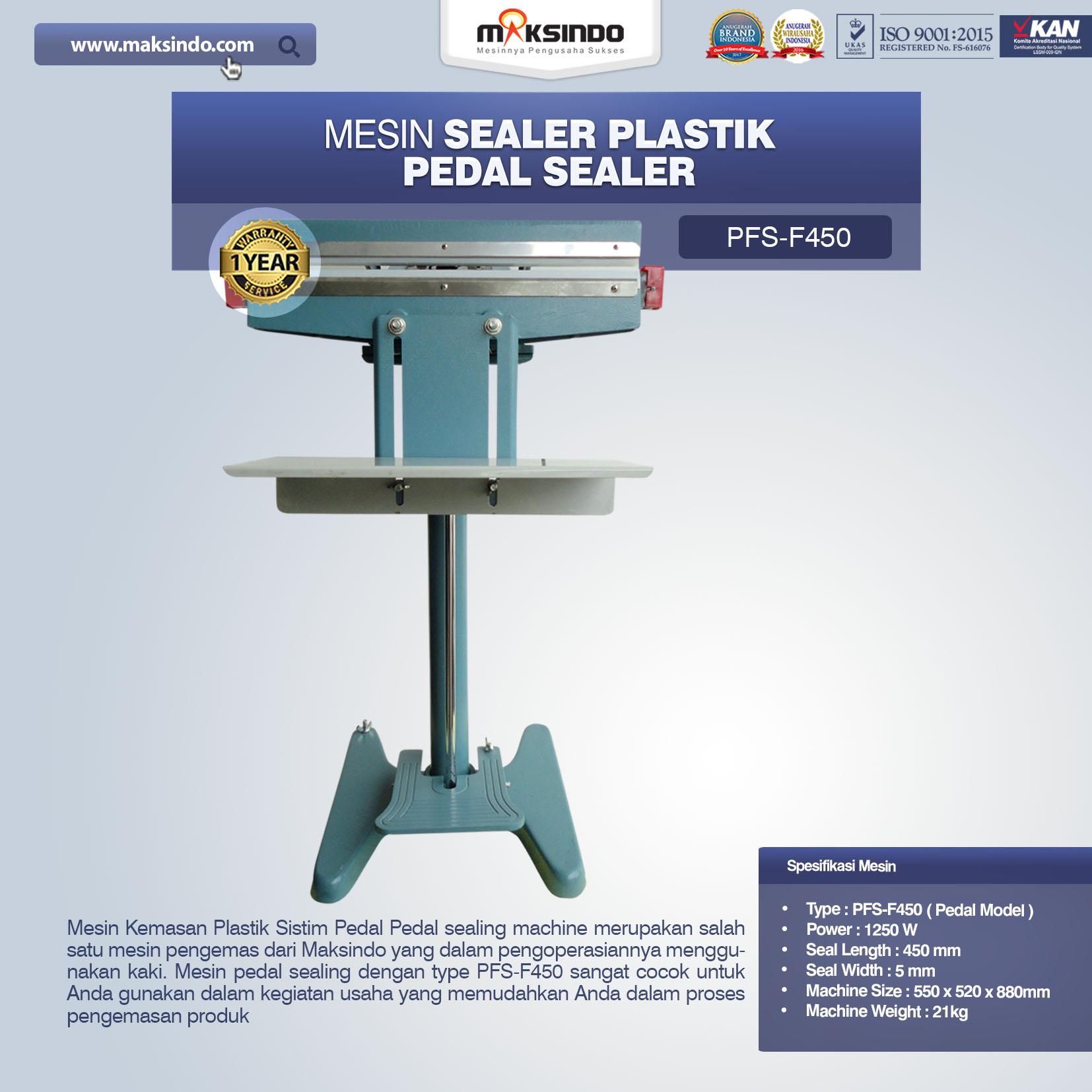 Jual Pedal Sealing Machine (PFS-F450) di Semarang