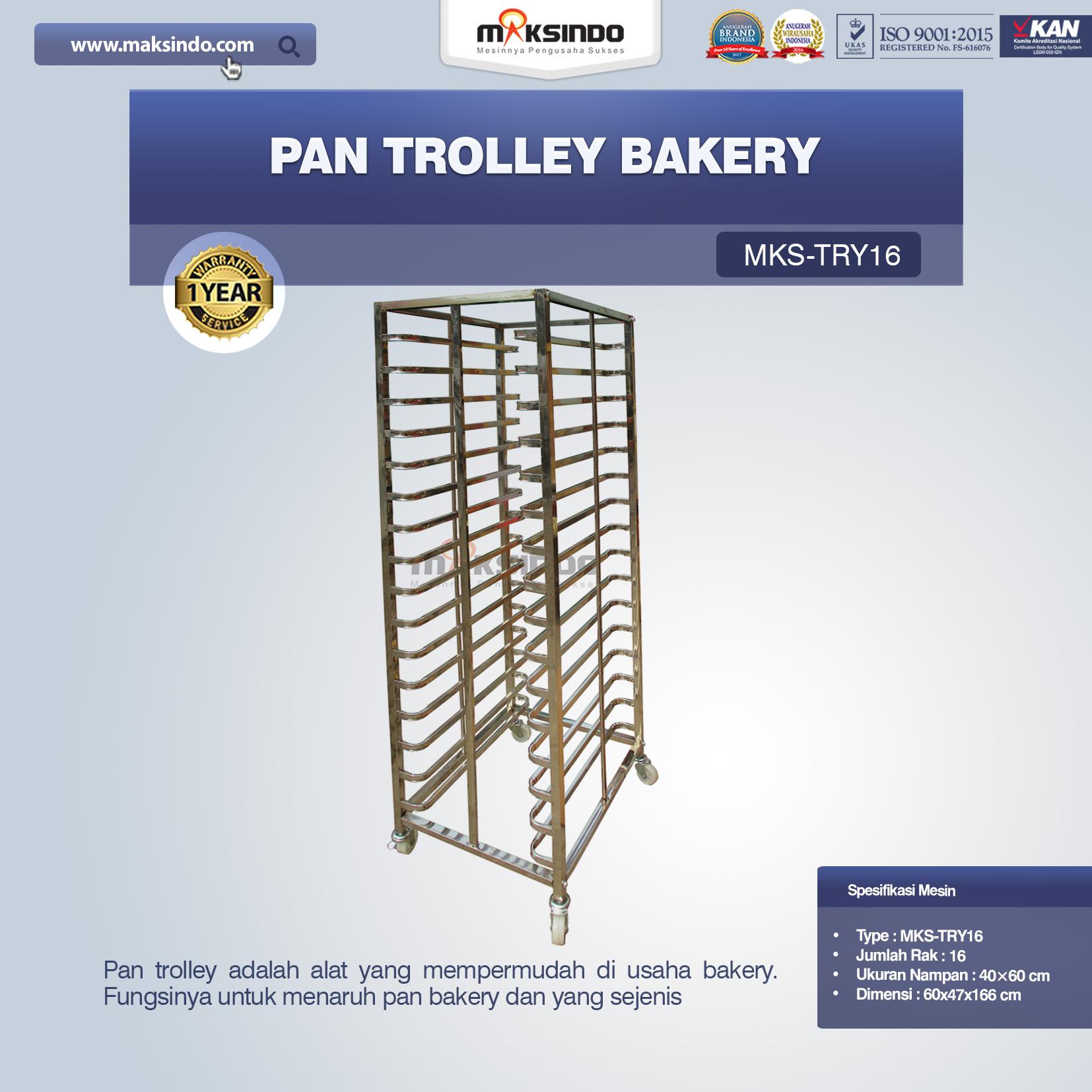 Jual Pan Trolley Bakery (MKS-TRY16) di Semarang