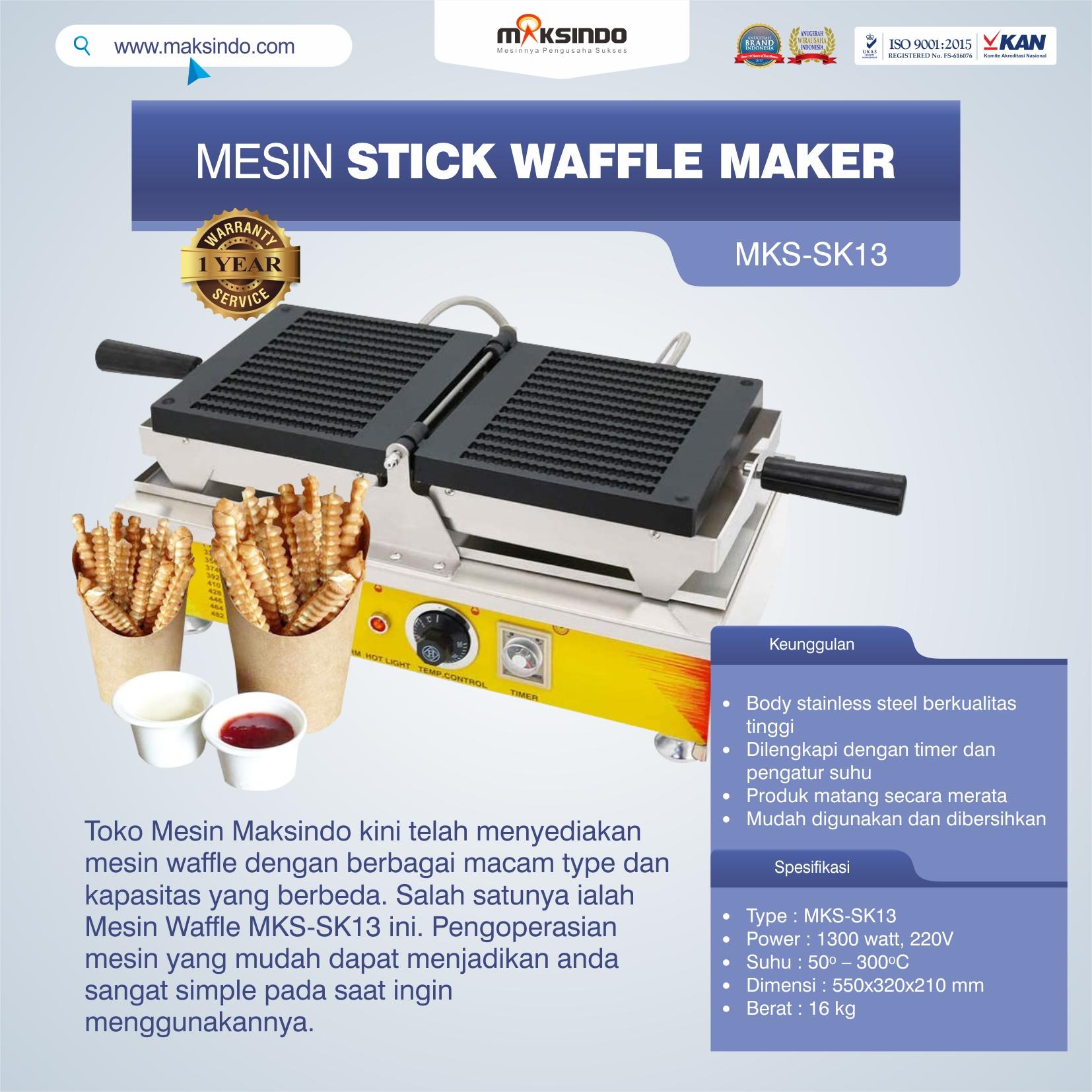Jual Mesin Stick Waffle Maker MKS-SK13 di Semarang