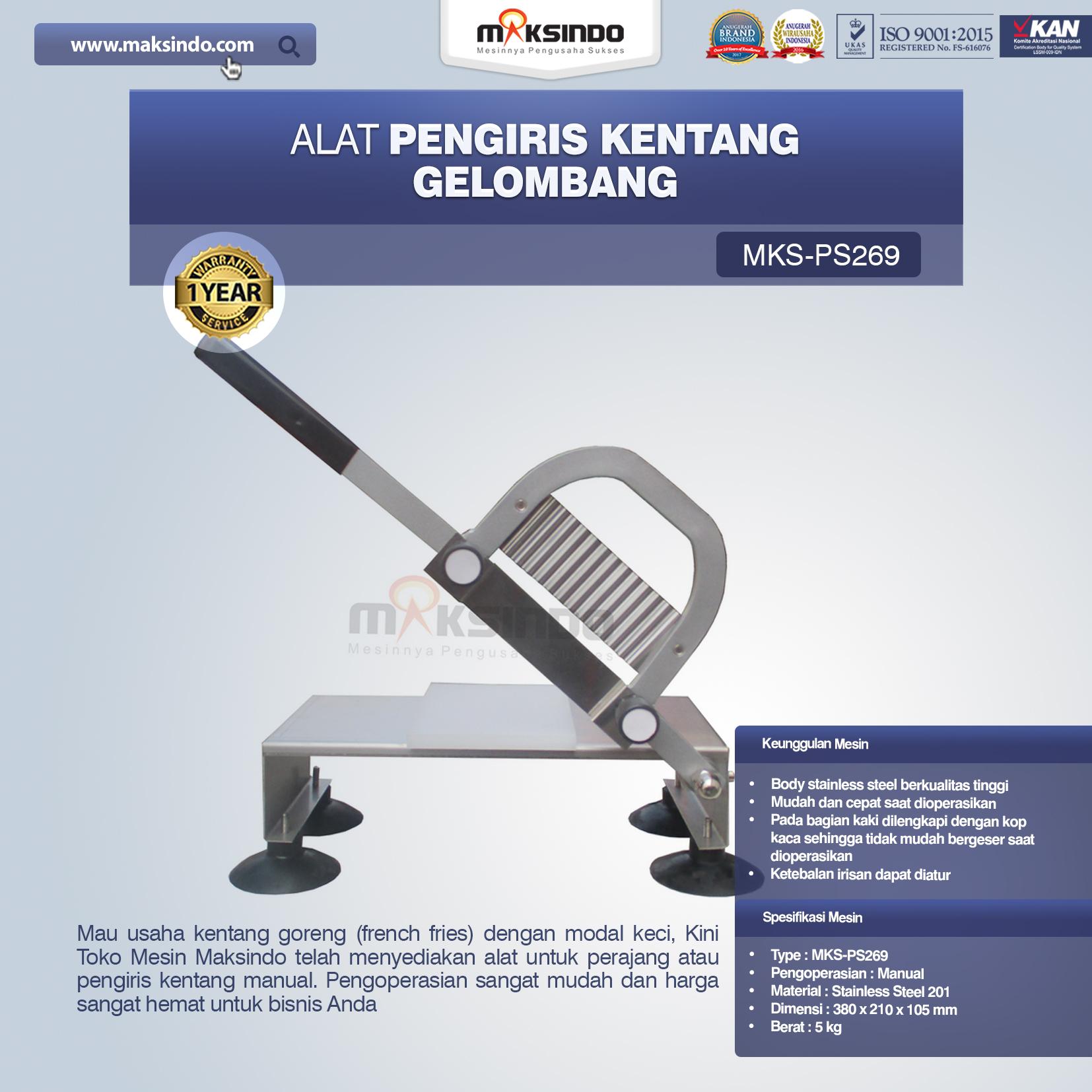 Jual Alat Pengiris Kentang Gelombang MKS-PS269 di Semarang