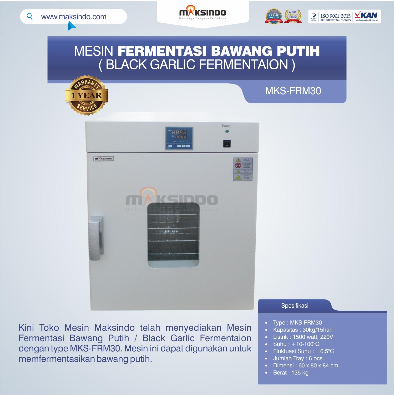 Jual Mesin Fermentasi Bawang Putih / Black Garlic Fermentaion MKS-FRM30 di Semarang