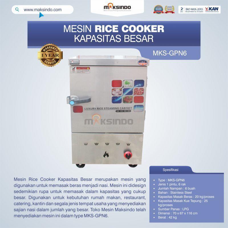Jual Mesin Rice Cooker Kapasitas Besar MKS-GPN6 di Semarang