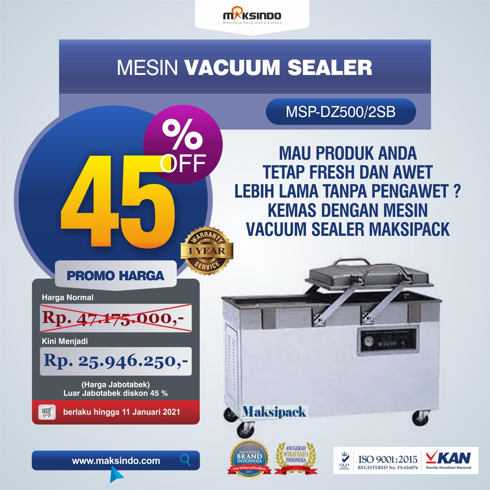 Jual Mesin Vacuum Sealer (DZ500/2SB) Di Semarang