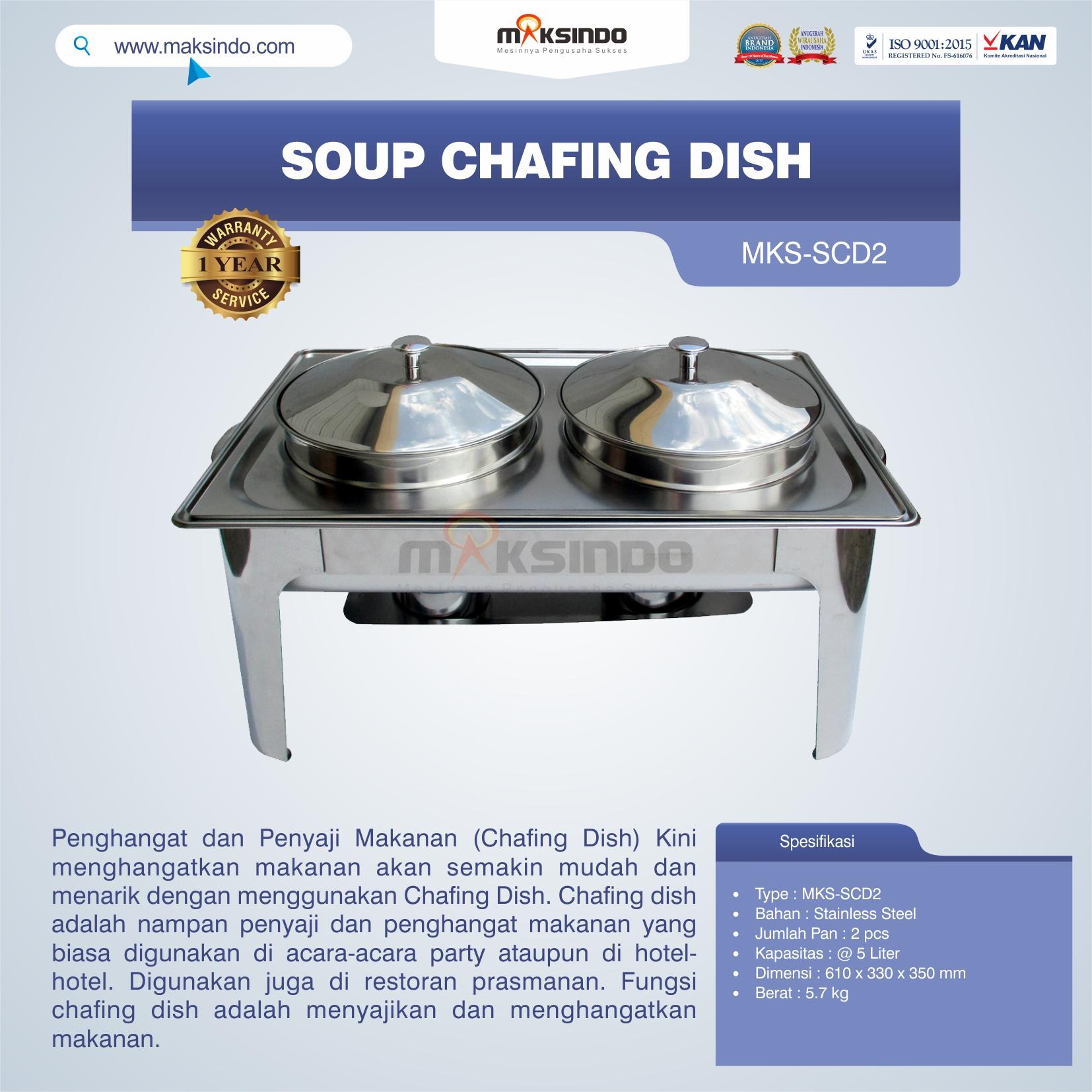 Jual Soup Chafing Dish MKS-SCD2 di Semarang
