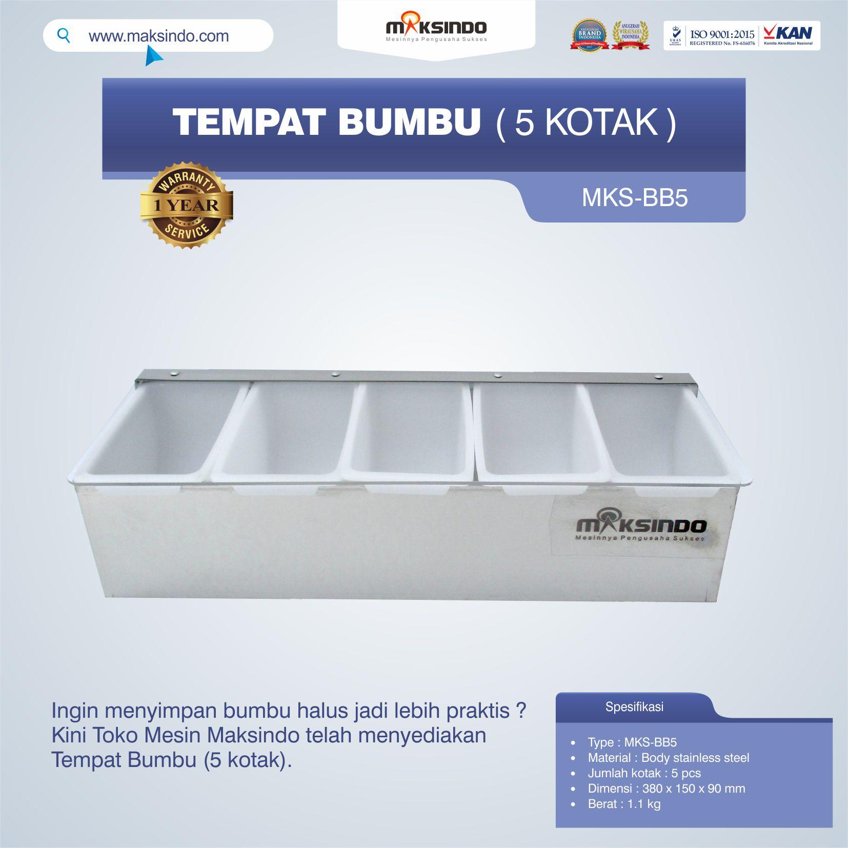 Jual Tempat Bumbu (5 kotak) di Semarang