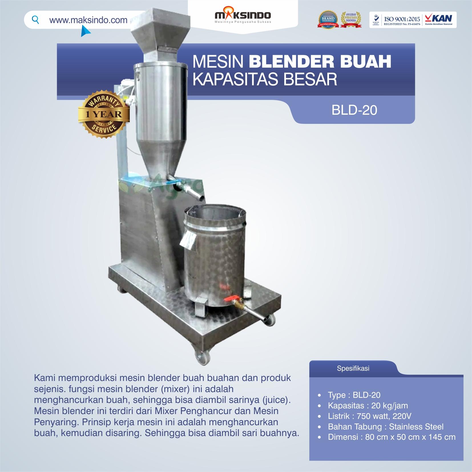 Jual Mesin Blender Buah Kapasitas Besar di Semarang