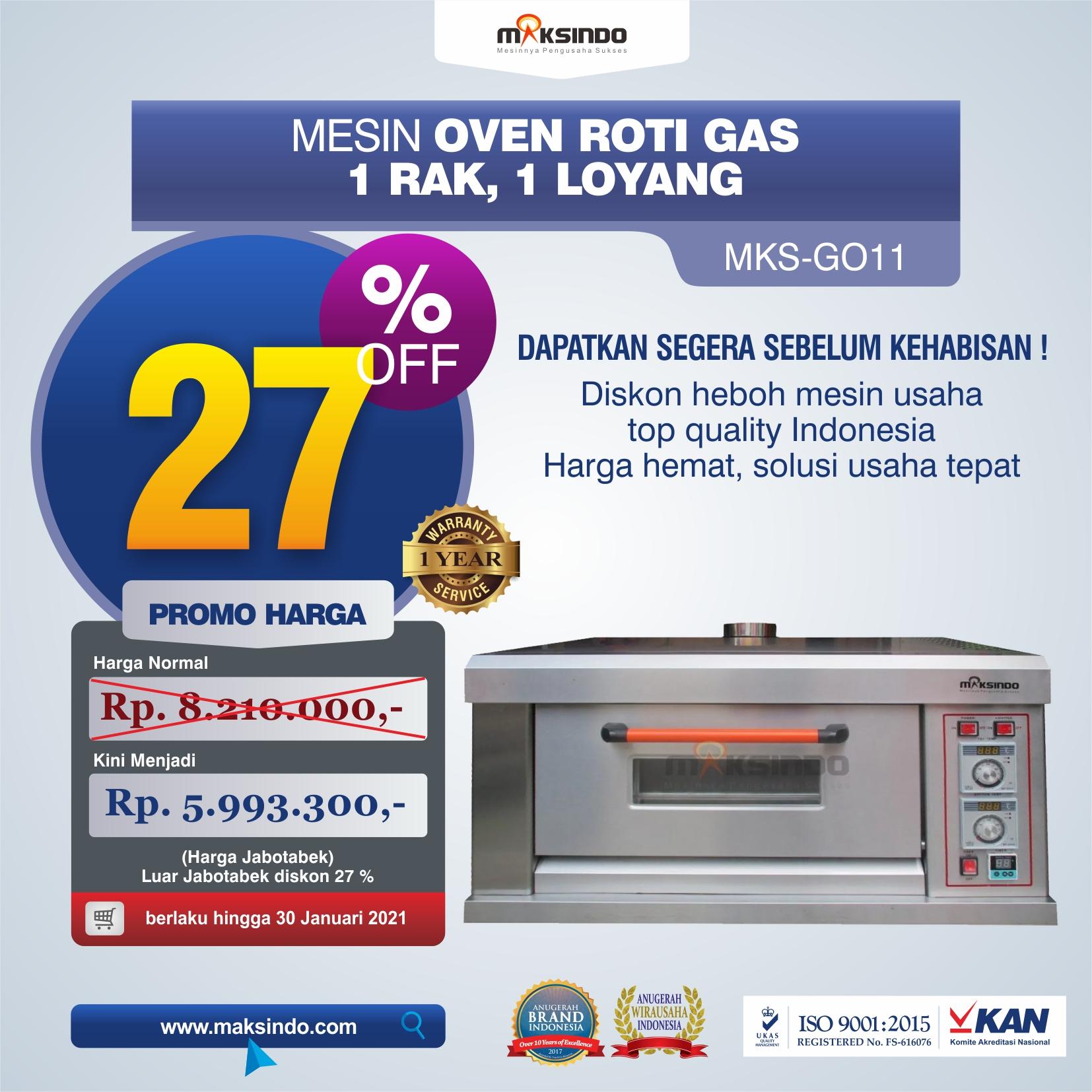 Jual Mesin Oven Roti Gas (MKS-GO11) di Semarang