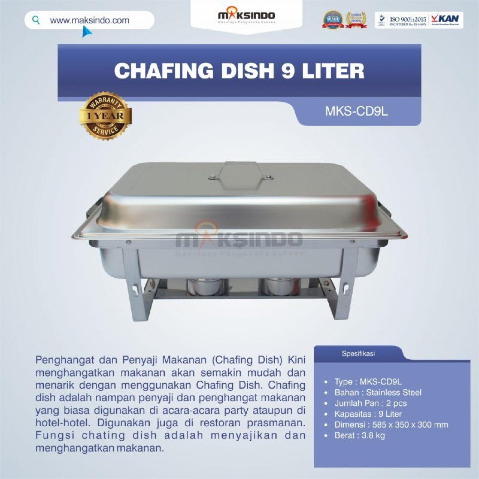 Jual Chafing Dish 9 Liter MKS-CD9L di Semarang