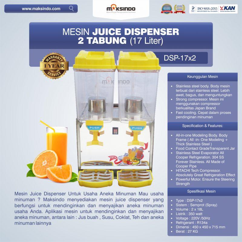 Jual Mesin Juice Dispenser 2 Tabung (17 Liter) – DSP-17×2 di Semarang