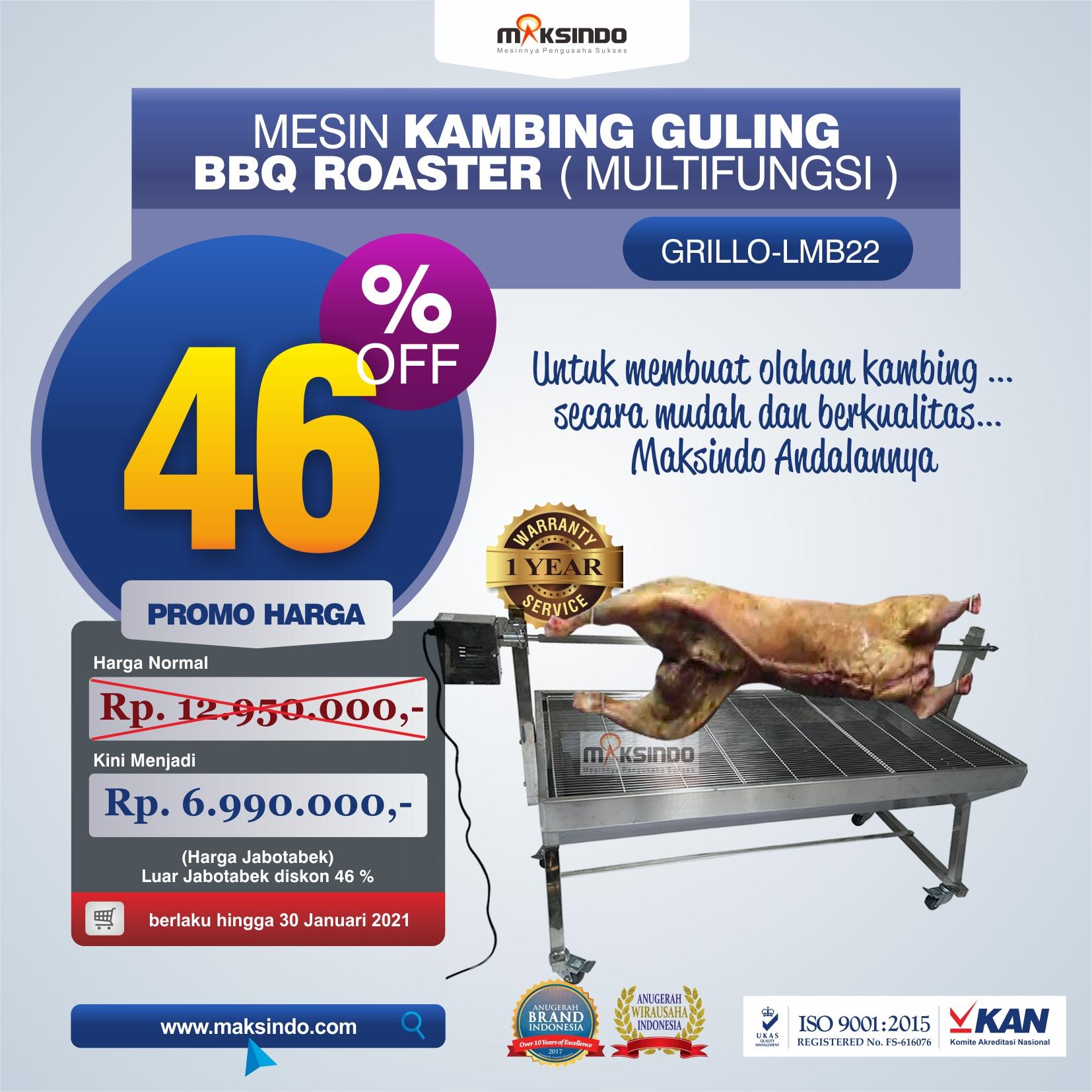 Jual Mesin Kambing Guling BBQ Roaster (GRILLO-LMB22) di Semarang