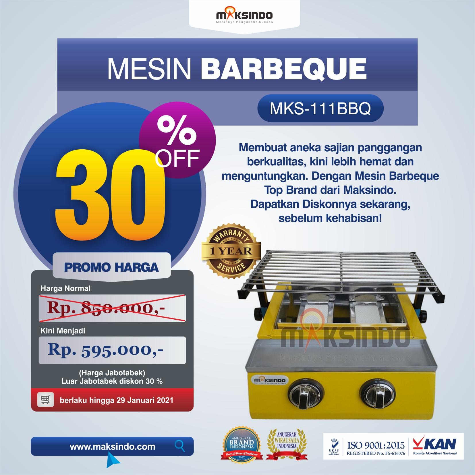 Jual Mesin Pemanggang Sate – BBQ 2 Tungku (Gas) di Semarang