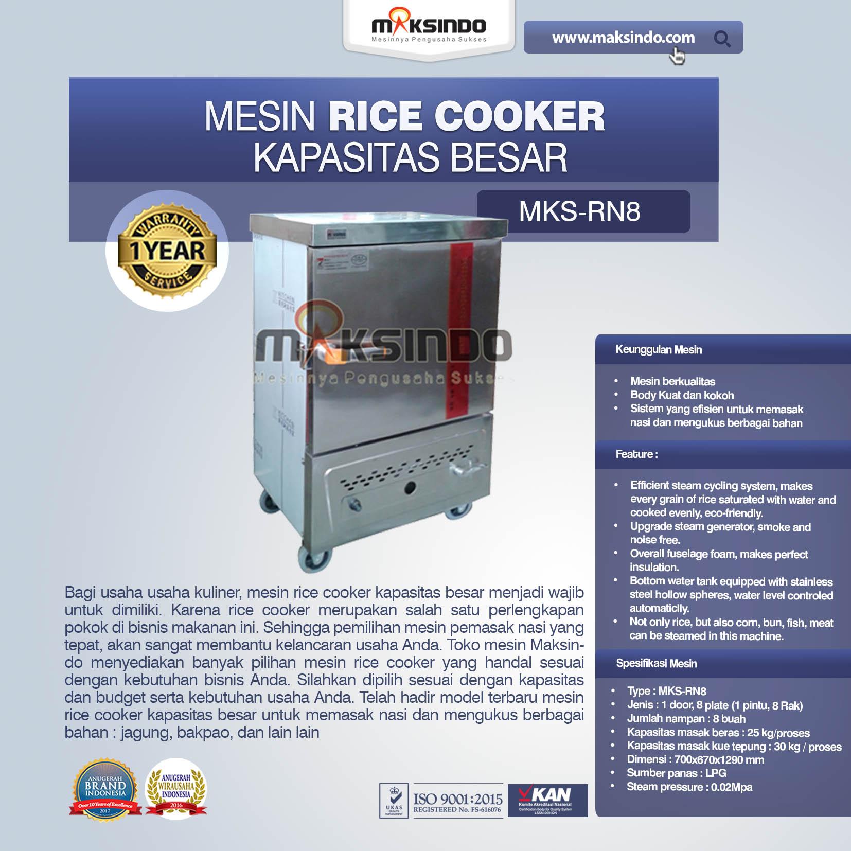 Jual Rice Cooker Kapasitas Besar 25 kg 8 Rak di Semarang