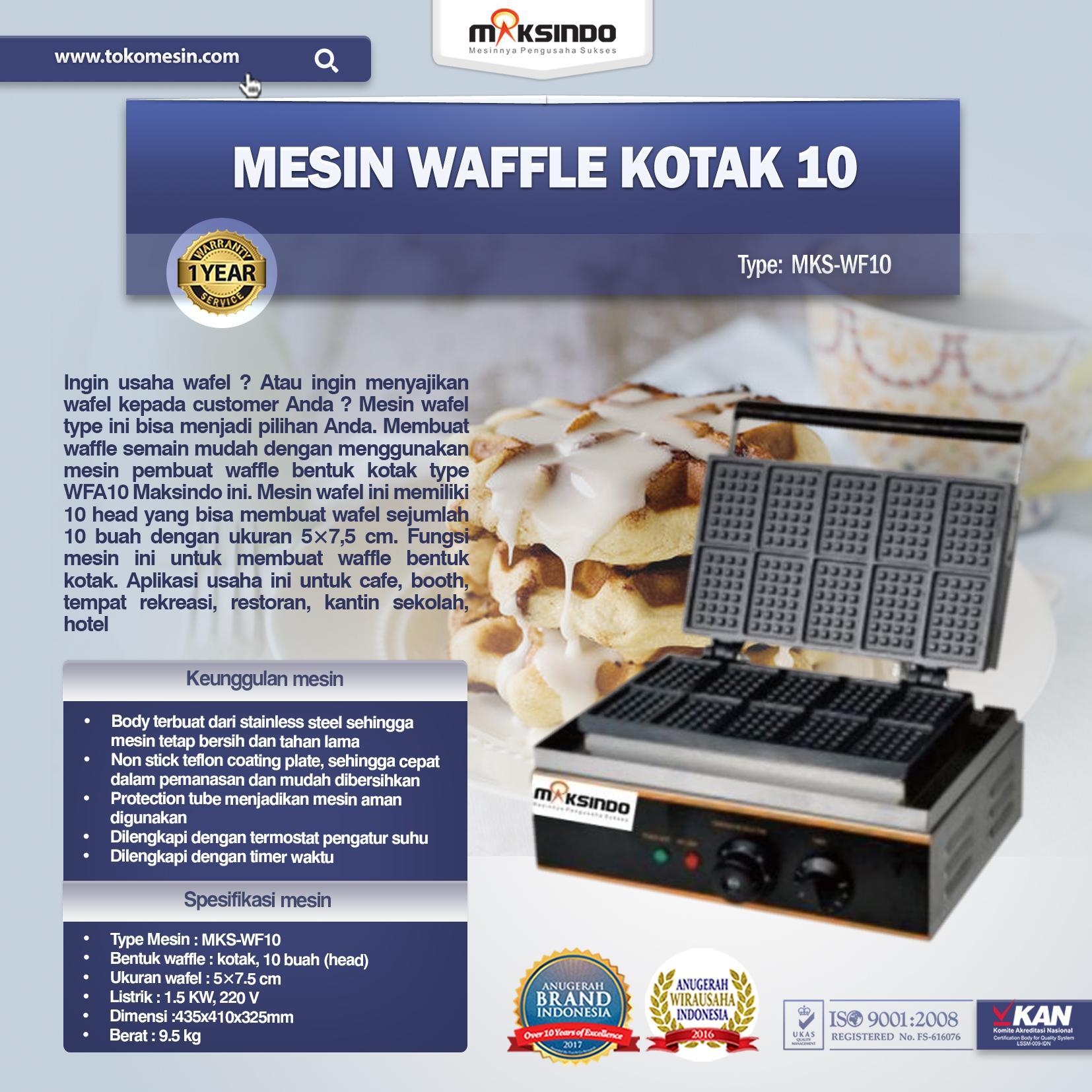 Jual Mesin Waffle Kotak 10 (WF10) Di Semarang