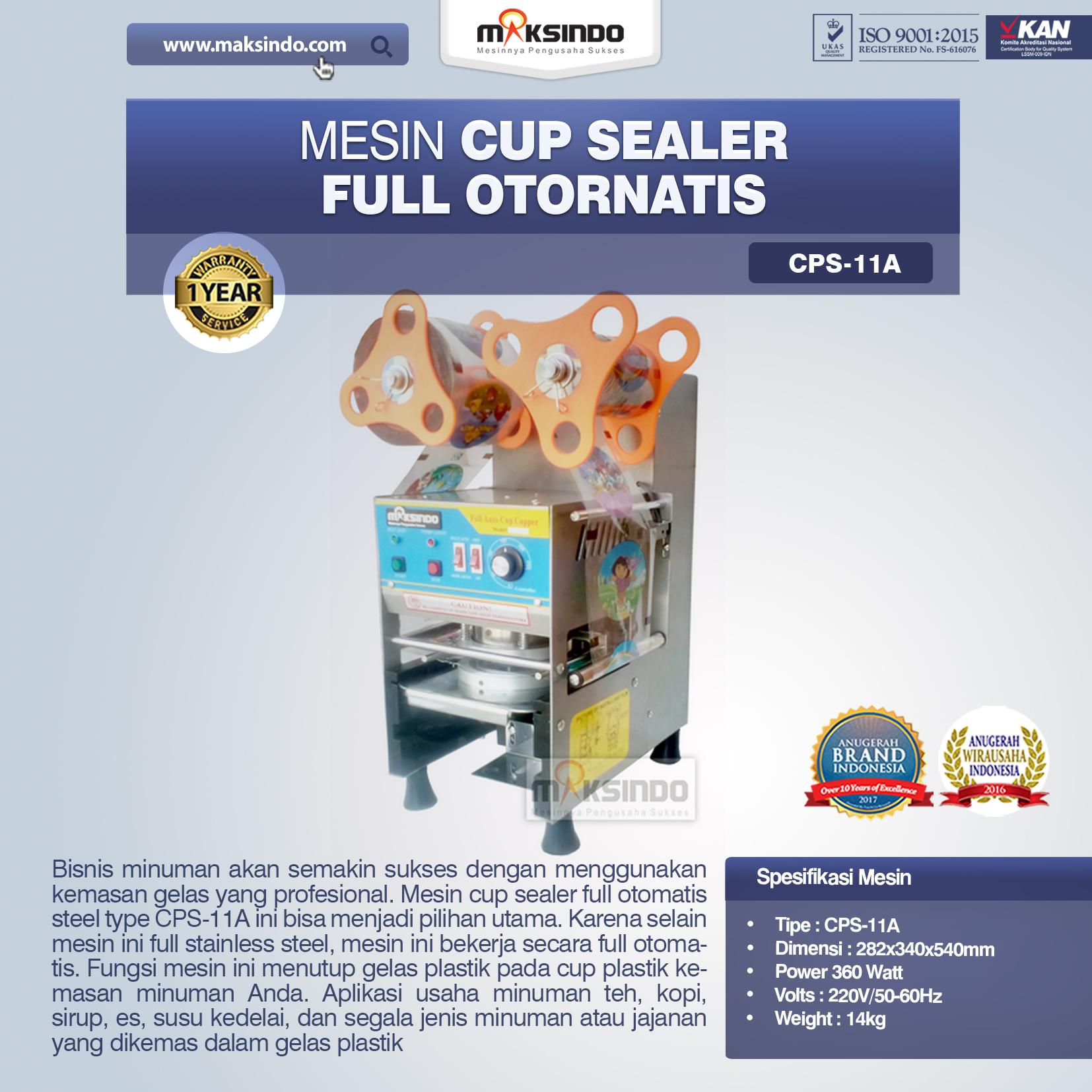 Jual Mesin Cup Sealer Full Otomatis (CPS-11A) di Semarang