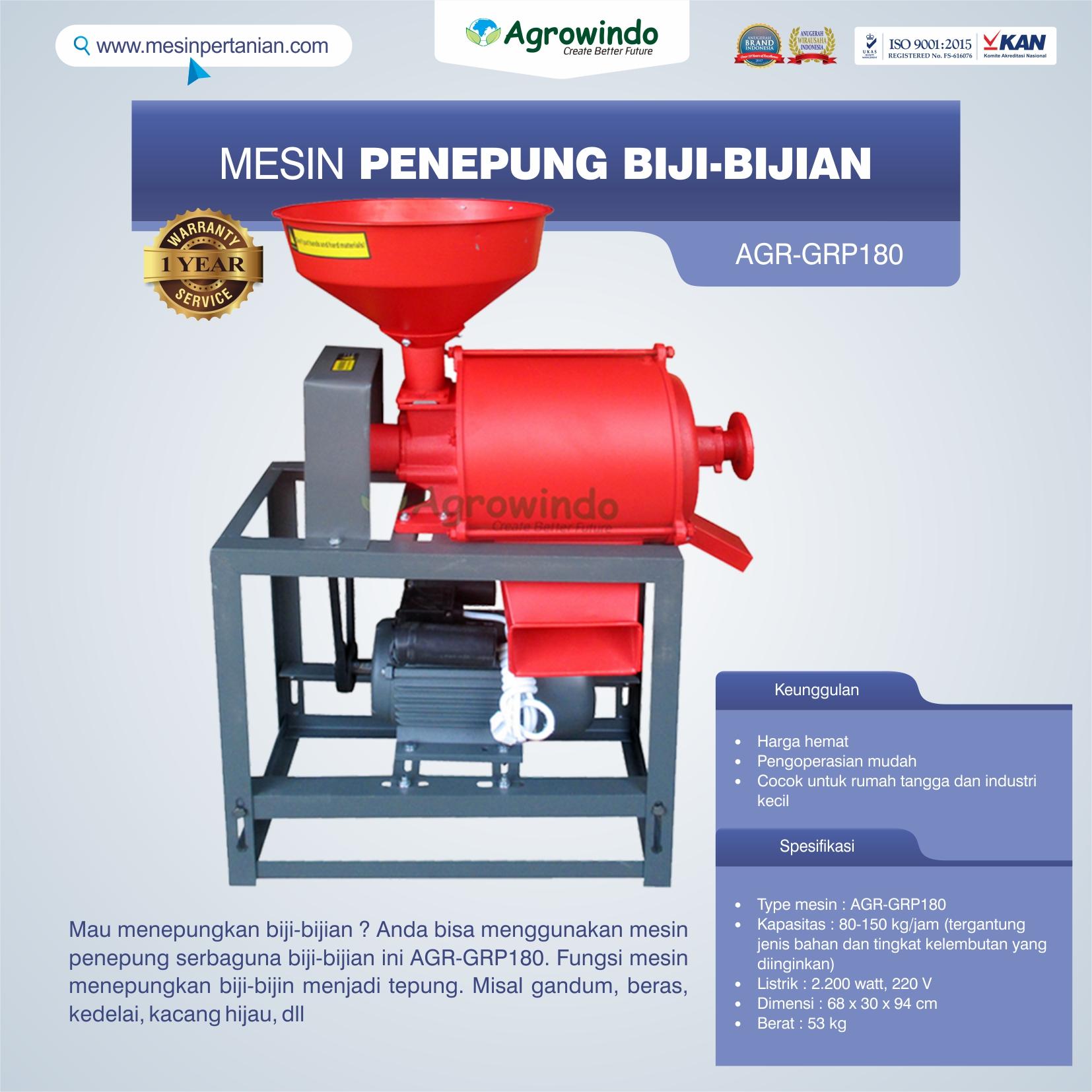Jual Mesin Penepung Biji-Bijian GRP180 di Semarang