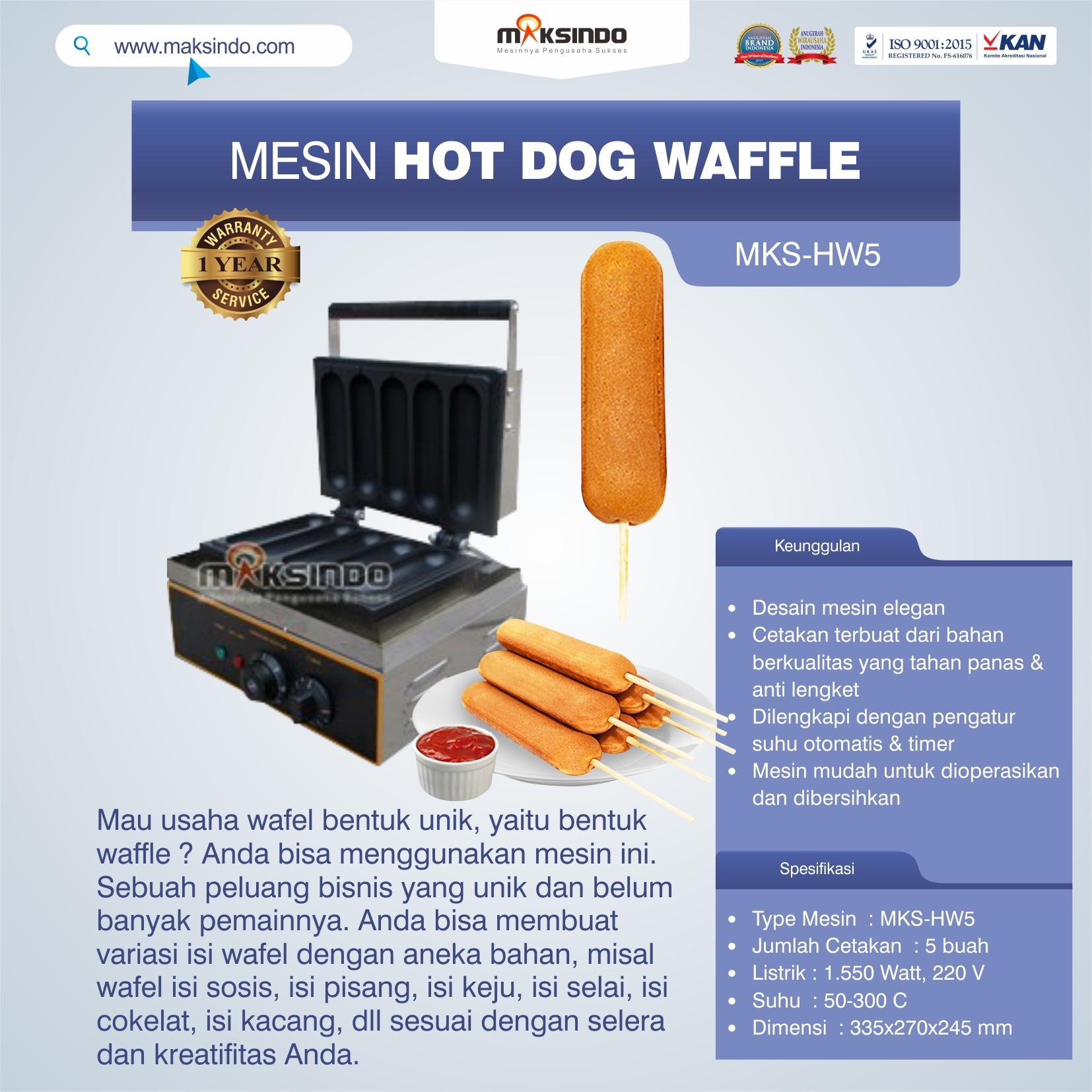 Jual Mesin Hot Dog Waffle MKS-HW5 di Semarang