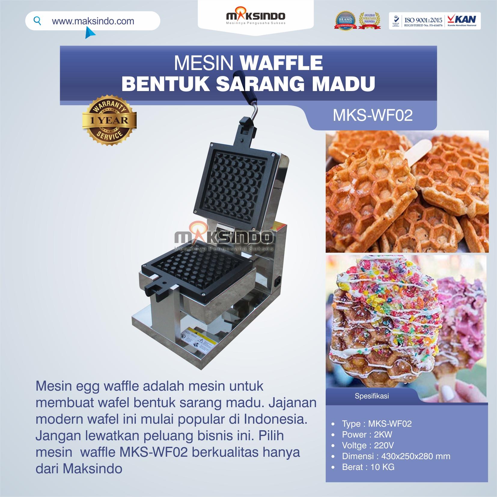 Jual Mesin Waffle Bentuk Sarang Madu MKS-WF02 di Semarang