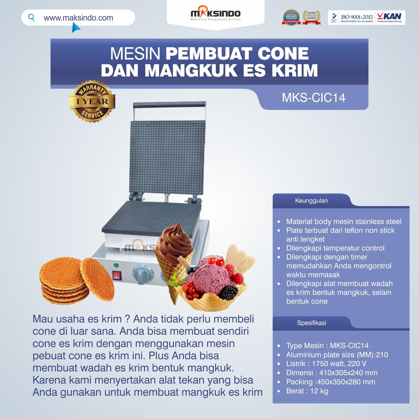 Jual Pembuat Cone dan Mangkuk Es Krim (CIC14) di Semarang
