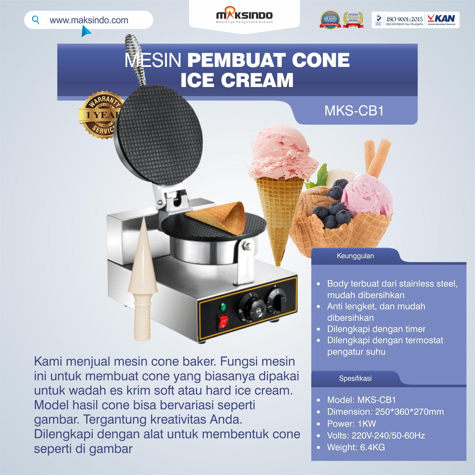 Jual Mesin Pembuat Cone (Cone Baker) Untuk Es Krim di Semarang